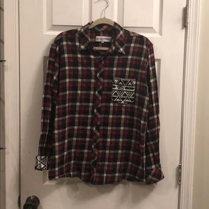 Other - 5 for $20 - Flannel button down w/ tribal print